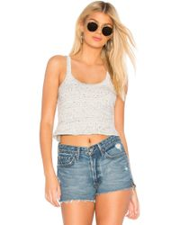 David Lerner - Cropped Aiden Tank In Light Gray - Lyst