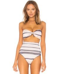 Cali Dreaming - Nubby Bandeau Top In Gray - Lyst