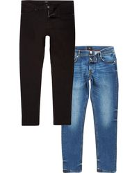 River Island - Skinny Fit Jeans Multipack - Lyst