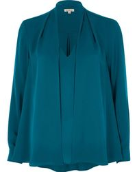 River Island - Teal Blue 2 In 1 Blouse - Lyst