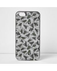 River Island - Grey Design Forum Fly Print Iphone 6 Case - Lyst