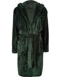 River Island - 'r96' Fleece Dressing Gown - Lyst