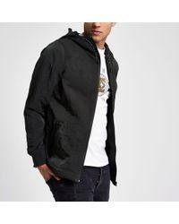 River Island - Green Nylon Hooded Jacket - Lyst