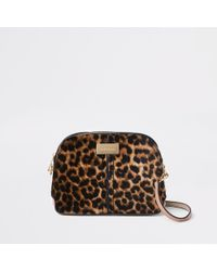 River Island - Leopard Print Kettle Cross Body Bag - Lyst