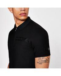 e2727fc5 River Island Black Star Print Polo Shirt in Black for Men - Lyst