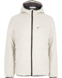 River Island   Cream Only & Sons Hooded Puffer Jacket Cream Only & Sons Hooded Puffer Jacket   Lyst