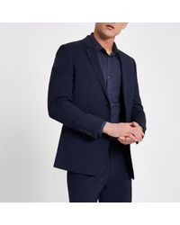 River Island - Skinny Suit Jacket - Lyst