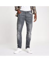 River Island - Wash Fade Dylan Slim Fit Jeans - Lyst