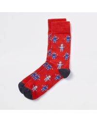 River Island - Red Robot Novelty Socks - Lyst