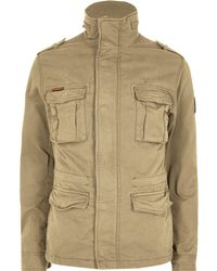 b802e0dc730 Michael Bastian Four-pocket Twill Military Jacket in Brown for Men ...