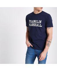 River Island - Franklin And Marshall Print T-shirt - Lyst