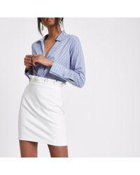 River Island - White Paperbag Mini Skirt White Paperbag Mini Skirt - Lyst