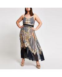 e219bb6e2f86 River Island Jacquard Mixed Zebra Print Mini Skirt in White - Lyst