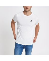 Only & Sons - Embroidered Fitted T-shirt - Lyst