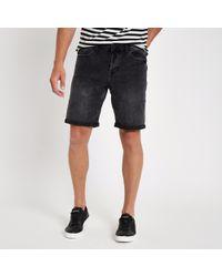 River Island - Only & Sons Grey Denim Shorts - Lyst