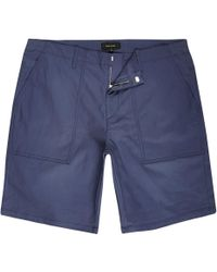 River Island - Blue Smart Slim Fit Chino Shorts - Lyst