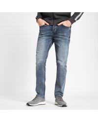 River Island - Dark Blue Slim Fit Dylan Jeans - Lyst