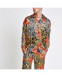 River Island - Jaded London Zebra Print Pyjama Shirt - Lyst