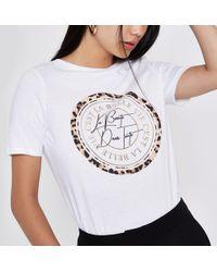 River Island - 'c'est La Belle' Circle Print T-shirt - Lyst
