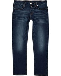 River Island - Dark Blue Dylan Slim Fit Jeans - Lyst