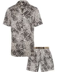 many choices of quality first modern design Snake Print Satin Pyjama Set - White