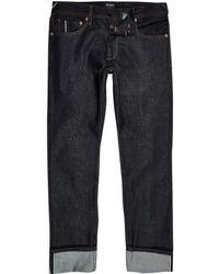 River Island - Pepe Jeans Dark Blue Stanley Jeans - Lyst