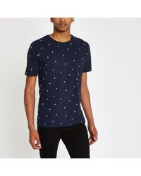 Minimum - Raindrop Print T-shirt - Lyst