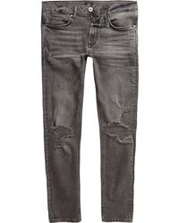 River Island - Washed Danny Ripped Super Skinny Jeans - Lyst