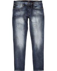 River Island - Pepe Jeans Stanley Tapered Tinted Jeans - Lyst