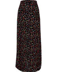 River Island - Floral Print Split Maxi Skirt - Lyst