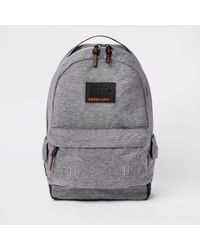 River Island - Superdry Grey Backpack - Lyst