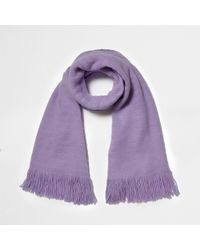 River Island - Light Purple Blanket Scarf - Lyst