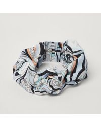 River Island - Blue Swirly Print Knot Front Headband Blue Swirly Print Knot Front Headband - Lyst