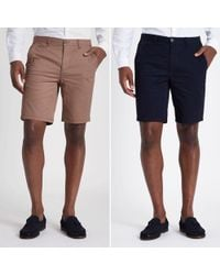 e77f038abe River Island Tan Faded Leaf Print Chino Shorts in Brown for Men - Lyst