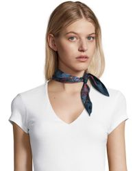Robert Graham - Peacock Party Silk Scarf - Lyst