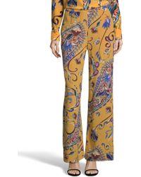 Robert Graham - Cora Paisley Print Silk Pants - Lyst