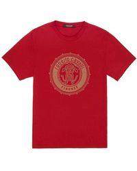 Roberto Cavalli - Stud Embellished Mirror Snake T-shirt - Lyst