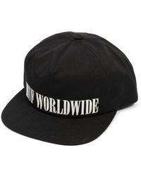 ed48f85fcde Huf - Serif Snapback Cap With Embroidered Logo In Black - Lyst