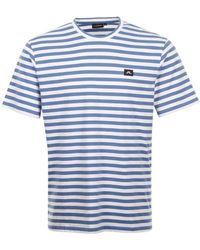 521e175ad TOPMAN Slim Navy Costa Stripe T-shirt in Blue for Men - Lyst