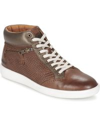 4f31b684312 Kickers - Happyzip Women s Shoes (high-top Trainers) In Brown - Lyst
