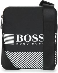 742f28da3de2 BOSS Green Messenger Bag In Nylon Mix: 'pixel_mess Flap' in Blue for ...