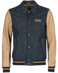 Chevignon - B-denim Leather Jacket - Lyst