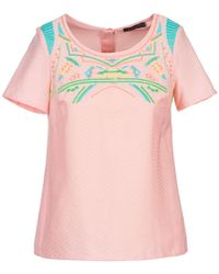 Color Block - Adriana Women's Blouse In Pink - Lyst
