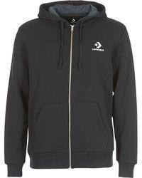 1c193d82a616 Converse - Star Chevron Embroidered Fz Hoodie Men s Sweatshirt In Black -  Lyst