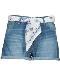 Lee Jeans - Pin Up Women's Shorts In Blue - Lyst