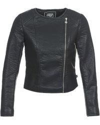Le Temps Des Cerises - Bubble Leather Jacket - Lyst