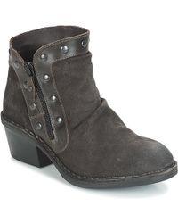 Fly London - Duke Women's Low Ankle Boots In Black - Lyst