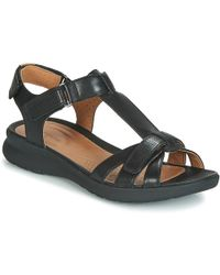 ad9f7abdfe5 Clarks Un Adorn Vibe Women s Sandals In Black in Black - Lyst