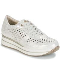 Pitillos - Manimo Women's Shoes (trainers) In Silver - Lyst