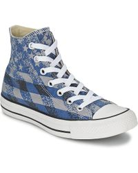 108820619c6 Converse - Chuck Taylor All Star Washed Flag Print Hi Shoes (high-top  Trainers